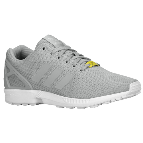 adidas originali zx flusso uomini occasionale scarpe alluminio / bianco