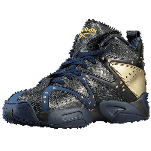 Reebok Kamikaze 1 Mid Mens Basketball Shoes Athletic Navy Blue  Peak Black Gold Metallic 26893692e