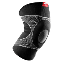 McDavid Knee Sleeve/4-way Elastic w/Gel Buttress - Black / White
