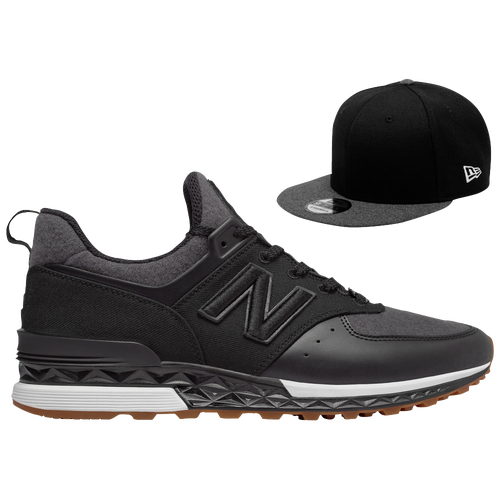 new balance 574 sport men's black