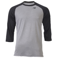 New Balance 3/4 Raglan Shirt - Men's - Grey / Black