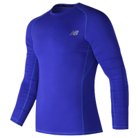 New Balance Aeronamic Fitted Long Sleeve Top - Men's - Blue / Blue