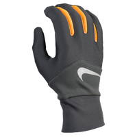 Nike Dri-FIT Tempo Run Gloves - Men's - Grey / Orange