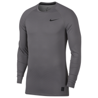 Nike Pro Breathe Compression Long Sleeve Top - Men's - Grey