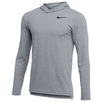 Nike Team Hyper Dry L/S Hooded Breathe Top - Men's - Grey
