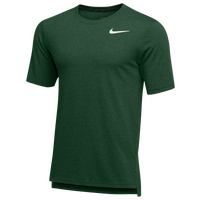 Nike Team Hyper Dry S/S Breathe Top - Men's - Dark Green