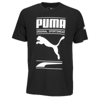 PUMA Graphic T-Shirt - Men's - Black / White