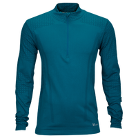 Runners Point Seamless Long Sleeve 1/2 Zip - Men's - Aqua / Aqua