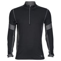 Runners Point 1/2 Zip Long Sleeve Top - Men's - Black / Grey