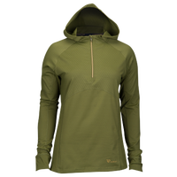 Runners Point Run 1/2 Zip Hoodie - Women's - Olive Green / Olive Green