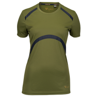 Runners Point Short Sleeve T-Shirt - Women's - Olive Green / Black