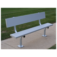Trigon Surface Mount Aluminum Team Benches
