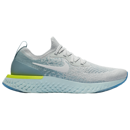 Nike Epic React Flyknit - Women's - Running - Shoes - Pure  Platinum/White/Volt Glow