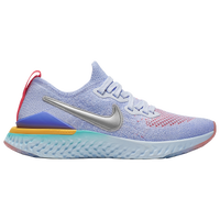 Nike Epic React Flyknit 2 - Girls' Grade School - Light Blue / Pink