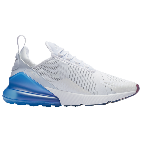 Nike Air Max 270 - Men's - Casual - Shoes - White/Metallic Silver/Photo Blue
