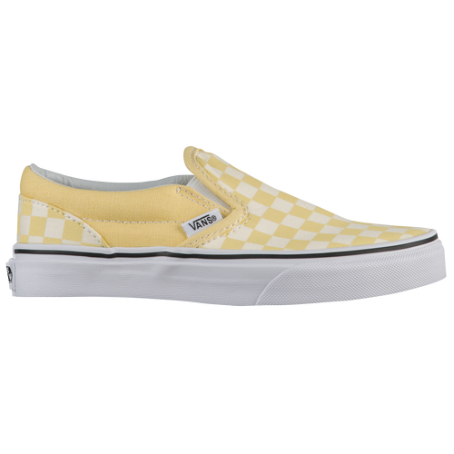 73475fc2e8b checkerboard slip on vans yellow