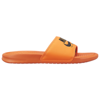 Nike Benassi JDI Text SE - Men's - Orange