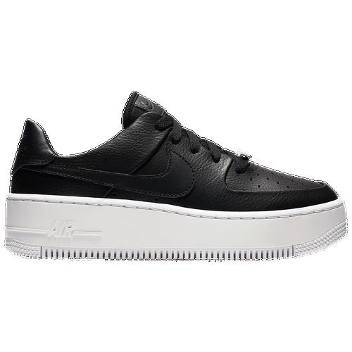 Nike Air Force 1 Sage Low WoFemme WoFemme WoFemme   's Casual Chaussures Noir Noir Blanc be2625