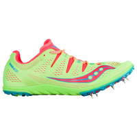 Saucony Carrera XC3 Spike - Women's - Light Green / Red