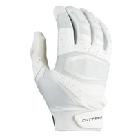 Cutters Rev Pro 3.0 Solid Receiver Gloves - Men's - White / Grey