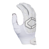 Cutters Gamer 3.0 Padded Football Gloves - Men's - White / Grey