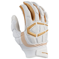 Cutters Gamer 3.0 Padded Football Gloves - Men's - White / Gold