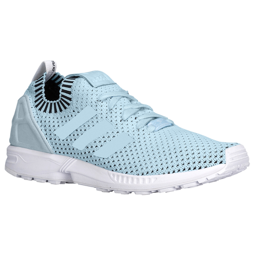 2383b6994 sale adidas originals zx flux primeknit mens running shoes ice blue white  black 2bd85 12f65