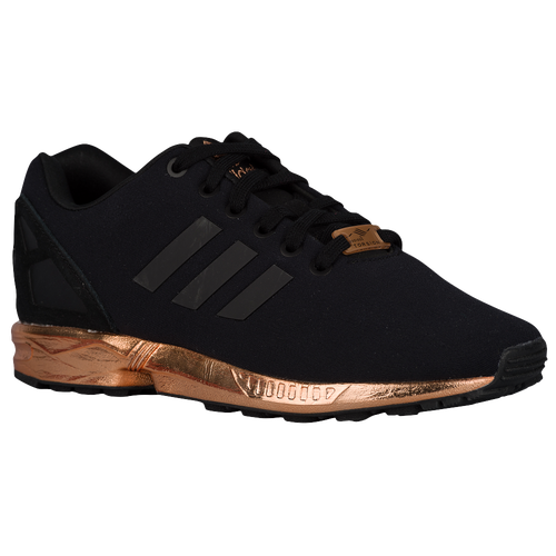 adidas Originals ZX Flux - Women's - Casual - Shoes - Black/Black/Copper Metallic