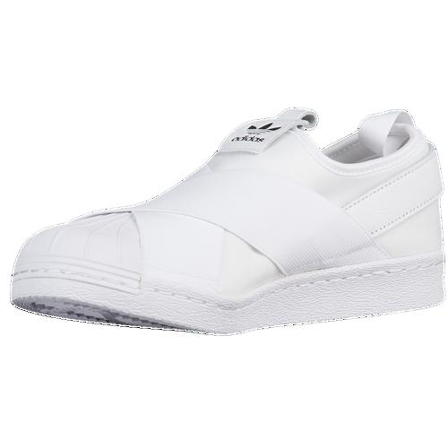 adidas Originals Superstar Slip On - Women's - Casual - Shoes -  White/White/Core Black