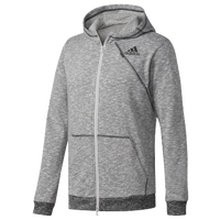 adidas Cross-Up Full Zip Hoodie - Men's - Grey / Black