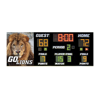 Bison Wall Mounted Basketball Scoreboard
