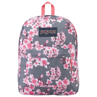 JanSport Superbreak Backpack - Pink / Grey