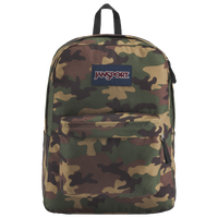 JanSport Superbreak Backpack - Olive Green / Brown