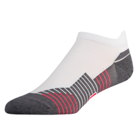 Under Armour Speedform No Show Single Tab Socks - Men's - White / Grey