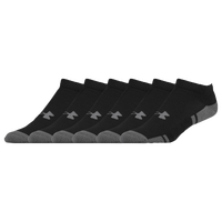 Under Armour Resistor 3.0 6 Pack Low Cut Socks - Men's - Black / Grey