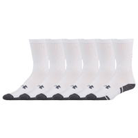 Under Armour 6 Pack Resistor 3.0 Crew Socks - Men's - White / Grey