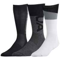 Under Armour Phenom 3.0 3 Pack Crew Socks - Men's - Grey / Black