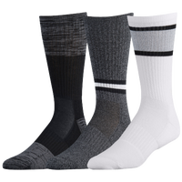 Under Armour Phenom 2.0 3 Pack Crew Socks - Men's - Black / White