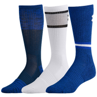 Under Armour Phenom 2.0 3 Pack Crew Socks - Men's - Blue / White