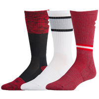 Under Armour Phenom 2.0 3 Pack Crew Socks - Men's - Red / White