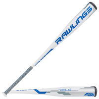 Rawlings Velo Baseball Bat - Grade School - White / Blue