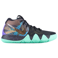 Nike Kyrie 4 - Boys' Grade School -  Kyrie Irving - Black / Light Green