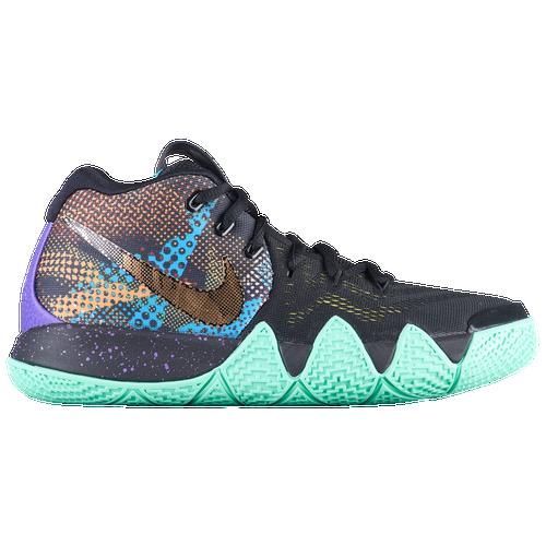 4d2b4ad2d405 ... new zealand nike kyrie 4 boys grade school basketball shoes kyrie  irving black sonic yellow purple