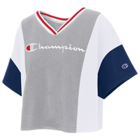 Champion Colorblock Crop T-Shirt - Women's - Grey