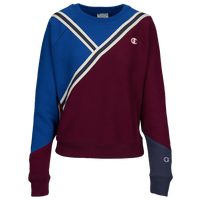 Champion Colorblock Crew - Women's - Maroon / Blue