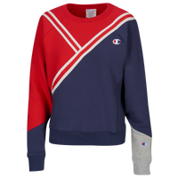 Champion Colorblock Crew - Women's - Red / Navy