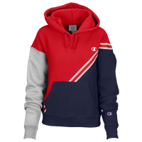 Champion Colorblock Hoodie - Women's - Red / Navy