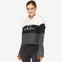 Champion Cropped Colorblock Hoodie - Women's - White / Black