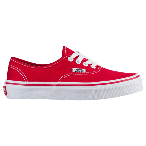 Vans Authentic Boys Preschool Casual Shoes Red