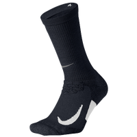 Nike Elite Cushioned Crew Running Socks - Black / White